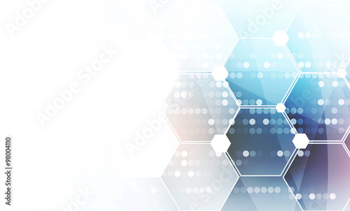 Canvastavla  New future technology concept abstract background