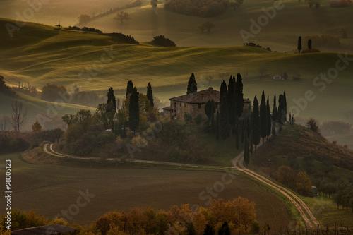 In de dag Toscane Val d'Orcia landscape in the morning, Tuscany