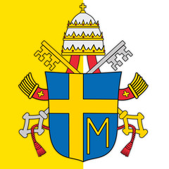 Naklejka pope john paul second coat of arms