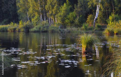 Jezioro Święte o zachodzie słońca - 98015508