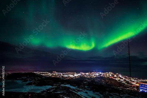 Foto auf Gartenposter Nordlicht Greenlandic Northern lights