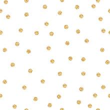 Gold Shimmer Glitter Polka Dot...