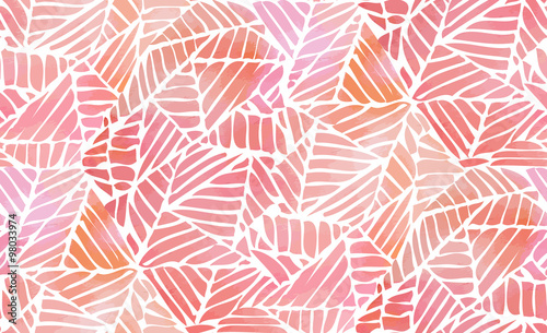 Fotografiet  Watercolor abstract seamless pattern. Vector illustration