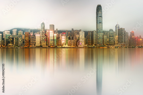 Garden Poster Abu Dhabi Panorama of Hong Kong and Financial district