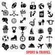 Sport, travel, tourism an recreation icons set