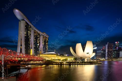 Tuinposter Singapore Marina bay