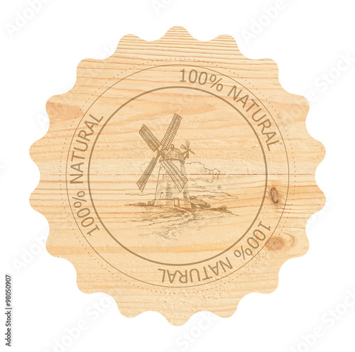 Fotografie, Obraz  Label for natural products