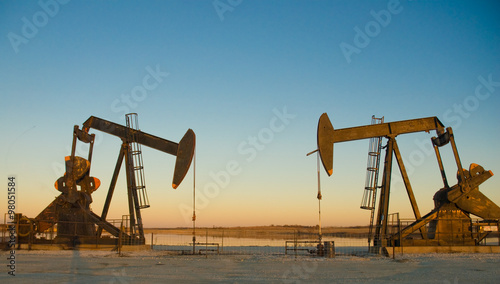 Poster Texas Oil Jack rabbit rig in Texas