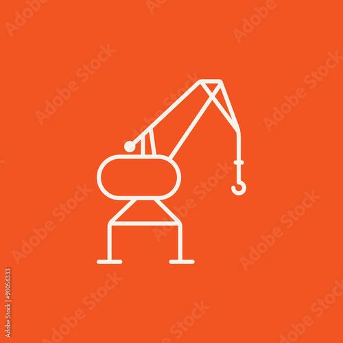 Harbor crane line icon. Fototapete