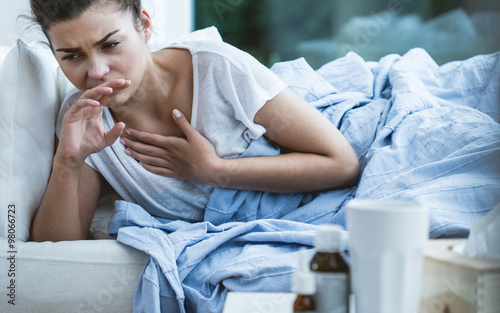 Photo  Woman with cough