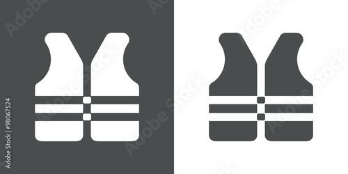 Fotografía  Icono plano chaleco salvavidas #1