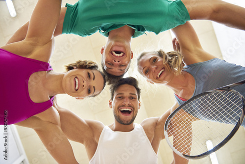 Fotografiet  Low angle view of squash players