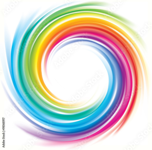 Vector backdrop of spiral rainbow spectrum Fototapet
