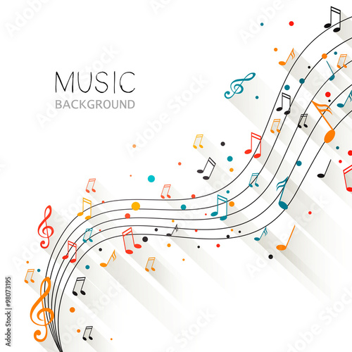 Vector Illustration of an Abstract Music Design #98073195