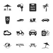 travel 16 icons universal set for web and mobile