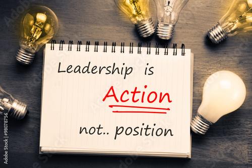 Fotografía  El liderazgo es acción