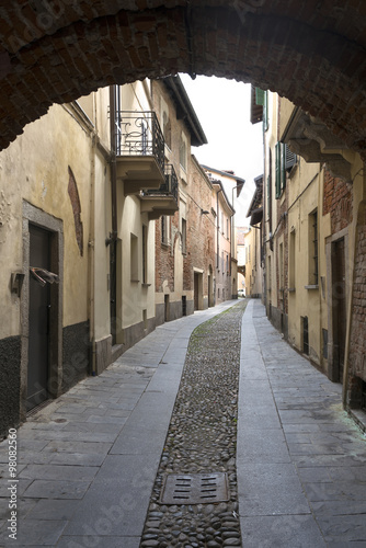 Printed kitchen splashbacks Narrow alley Pavia (Lombardy, Italy)