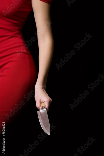 Fotografía Girl With Knife