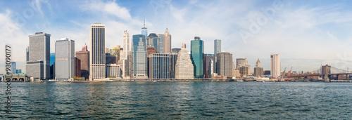 Foto op Aluminium New York Beautiful panoramic view of Downtown Manhattan, NYC