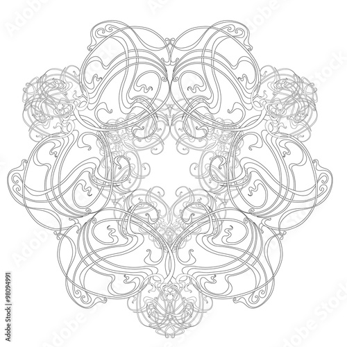 Fotografía  Round Pattern  Art Nouveau