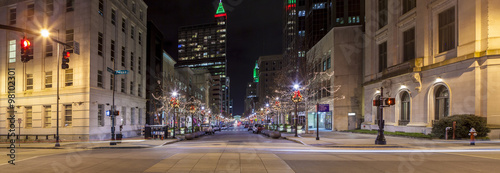 night panorama of Raleigh, North Carolina