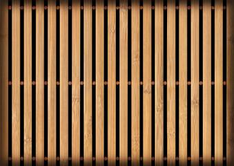 Bamboo Place Mat, Natural Ocher-brown, Bleached and Mottled, Vignette, Grunge Texture Detail.
