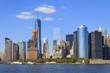 Manhattan Skyline with over Hudson River