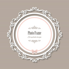 Vintage Elegant Round Frame.
