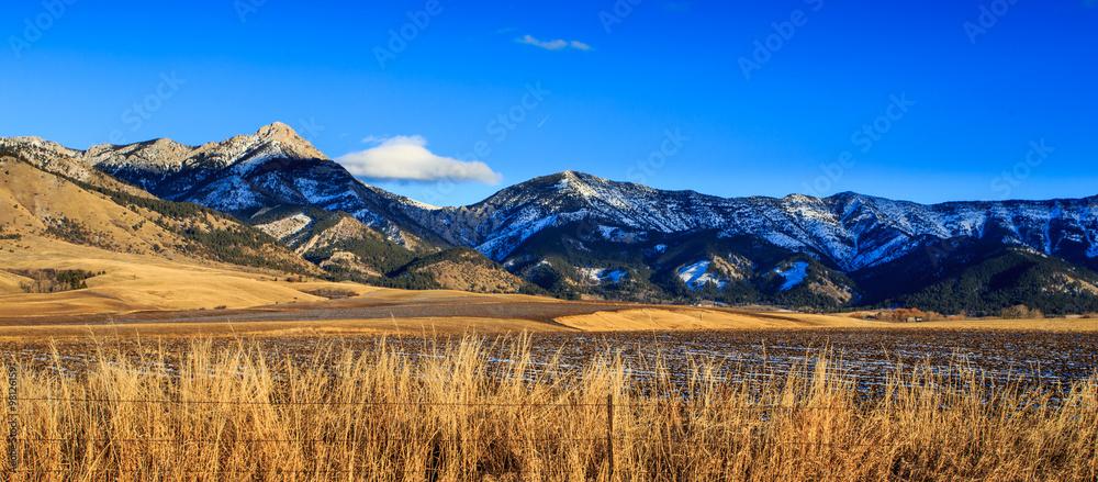Fototapety, obrazy: Bridger Mountain Range.