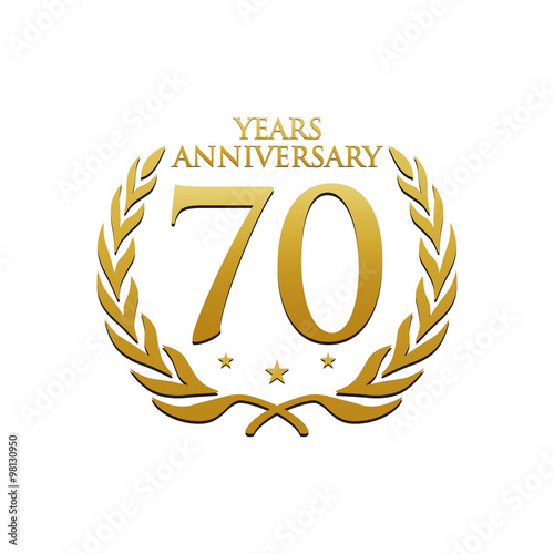 Simple Wreath Anniversary Gold Logo 70 Poster