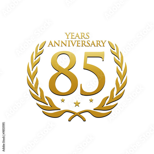 Fotografía  Simple Wreath Anniversary Gold Logo 85