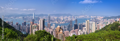 Fotografie, Obraz hong kong building as Victoria Peak