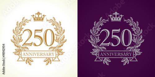 Poster  250 anniversary luxury logo