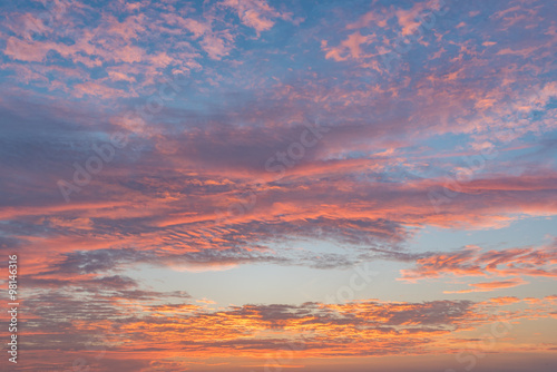 Colorful of sunrise sky Fototapeta
