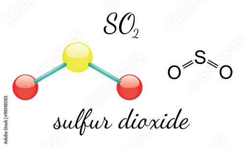 so2 sulfur dioxide molecule