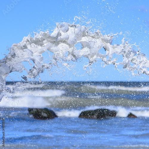 Photo  Splash on sea background
