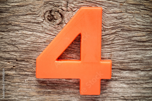 Photo  Orange number four