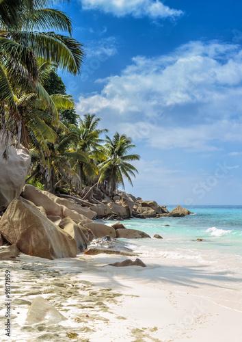 Fotografie, Obraz  Nedotčené tropické pláže Seychelské ostrovy