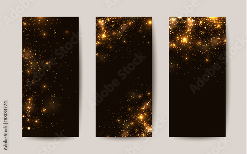 Shiny Sparkles On Black Background Templates For Flyers Buy This