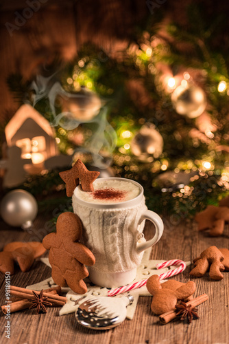 Christmas chocolate drink #98186150