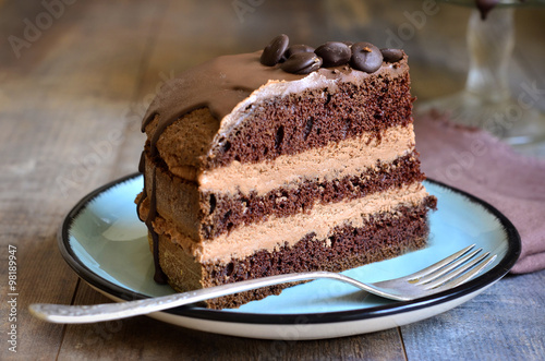 Plakat Ciasto czekoladowe.