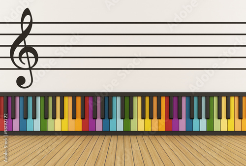 Colorful music room #98192722