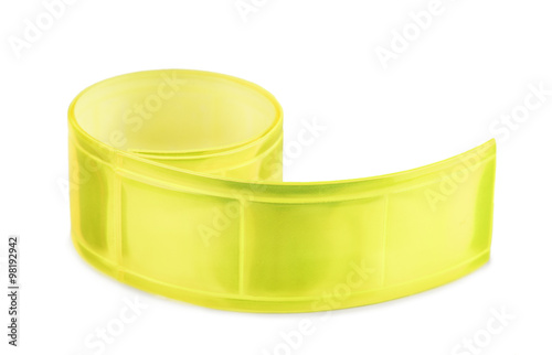 Obraz Yellow clothing reflective tape - fototapety do salonu
