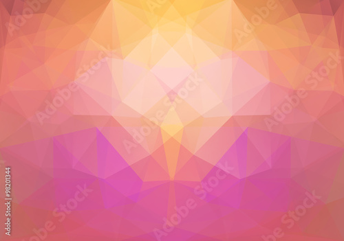 Fotografie, Obraz  Abstract Polygonal Background