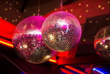 Fototapeta Do dyskoteki Disco balls
