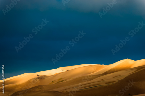 Photo sur Toile Desert de sable Desert Sunrise Landscape