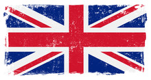 UK Briritsh Vector Flag On White