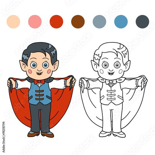 Coloring book for children: Halloween characters (vampire) – kaufen ...