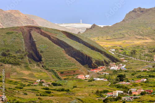 Deurstickers Canarische Eilanden Valley in the Canary Islands