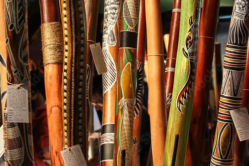fototapeta na drzwi i meble Aboriginal instrument
